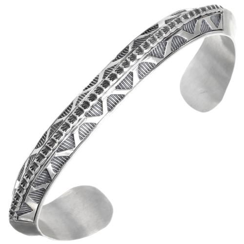 Navajo Sterling Silver Mens Cuff Bracelet 39375
