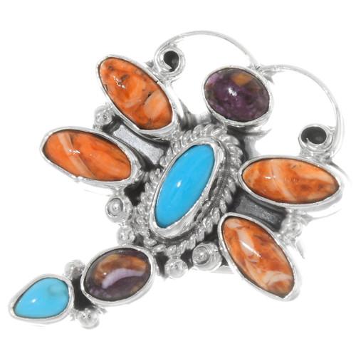 Navajo Gemstone Dragonfly Ring 39696