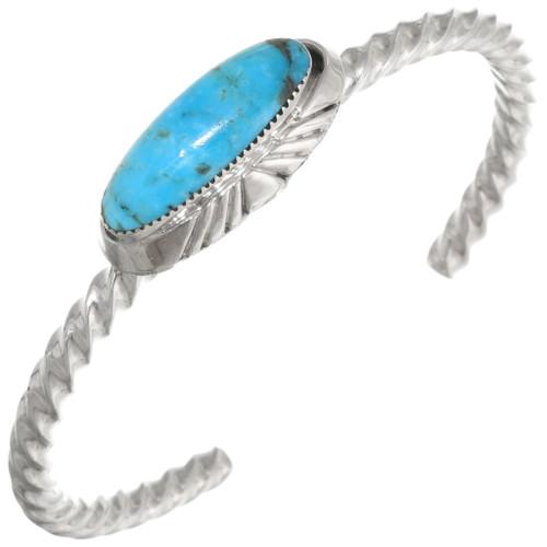 Native American Turquoise Twist Wire Bracelet 39414