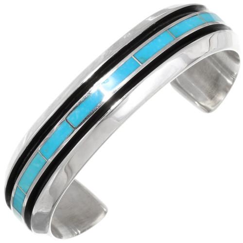 Native American Turquoise Inlay Bracelet 39417