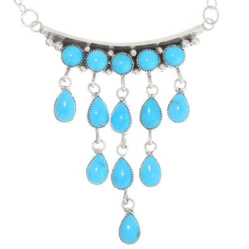 Sleeping Beauty Turquoise Chandelier Necklace 39428