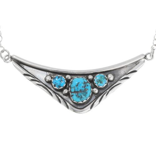 Navajo Sleeping Beauty Turquoise Necklace 39429