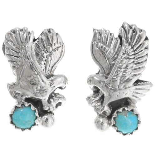 Sterling silver Turquoise Eagle Earrings 39443