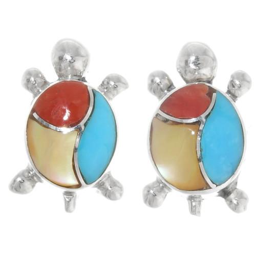 Native American Turquoise Turtle Earrings 39447