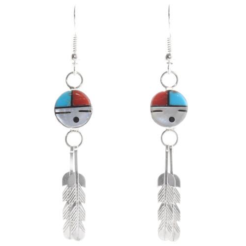 Zuni Sunface God's Eye Earrings 39449