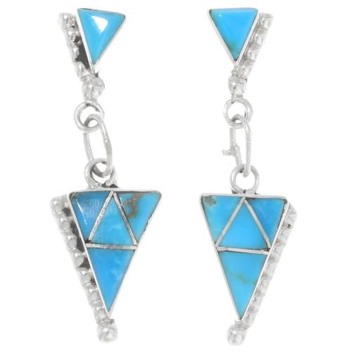 Native American Geometric Turquoise Earrings 39450