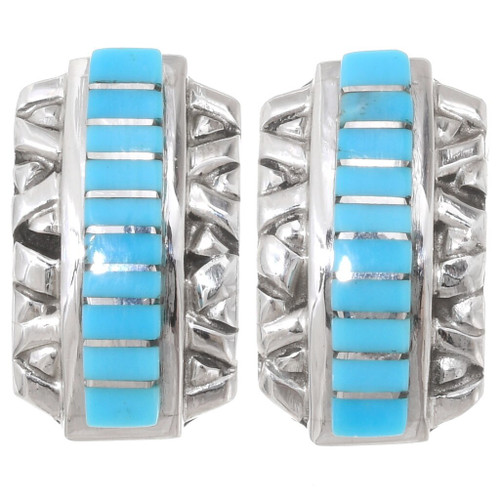 Turquoise Sterling Silver Post Earrings 39462
