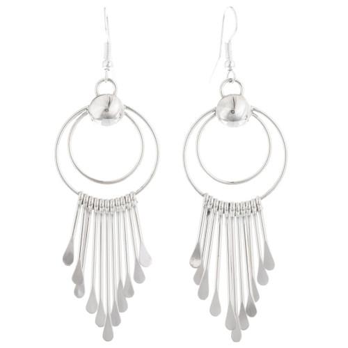 Sterling Silver Navajo Dangle Earrings 39465