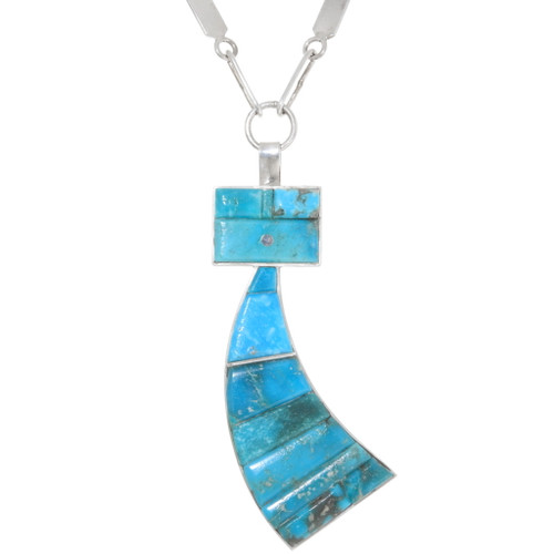 Navajo Turquoise Yei Pendant 39469