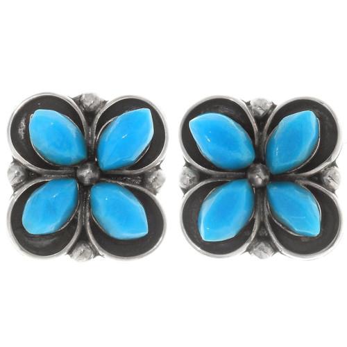 Sleeping Beauty Turquoise Zuni Earrings 39479