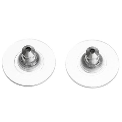 Wide Plastic Post Earring Backs 37051