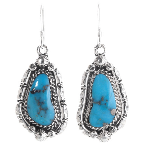 Blue Turquoise Sterling Silver Earrings 39487