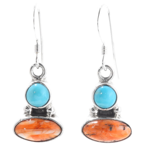 Navajo Turquoise Spiny Oyster Earrings 39490