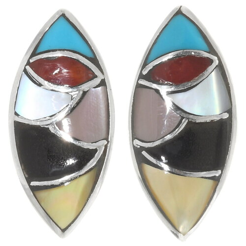 Colorful Gemstone Native American Earrings 39504