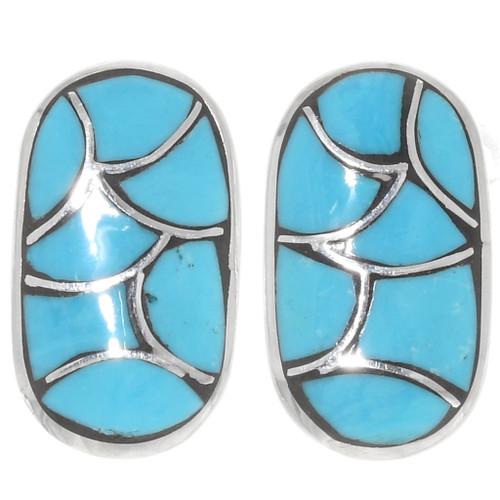 Zuni Inlaid Turquoise Earrings 39505