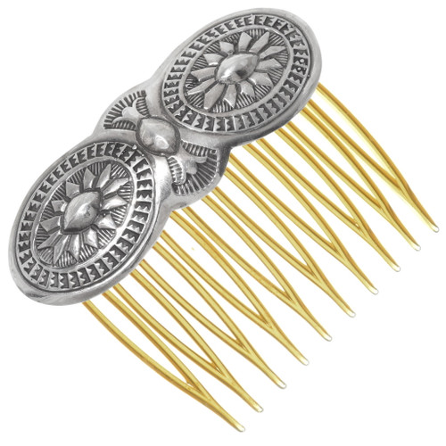 Native American Sterling Silver Hair Comb 39530