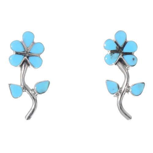 Turquoise Flower Earrings 39545
