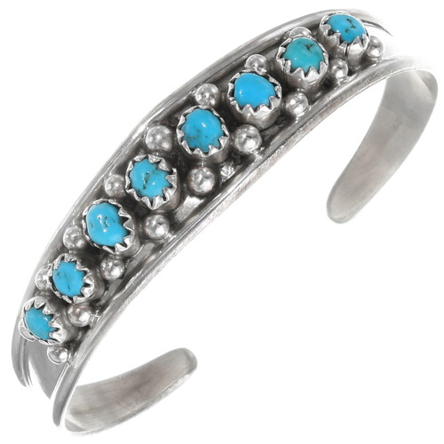 Small Ladies Navajo Turquoise Bracelet 39534