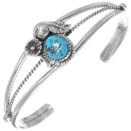 Navajo Silver Turquoise Ladies Bracelet 32121