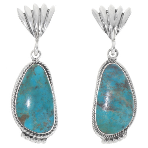 Navajo Turquoise Earrings 39570