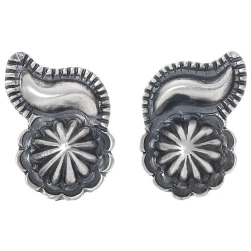 Navajo Ladies Santa Fe Silver Earrings 39571