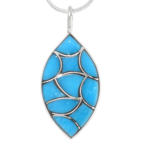Sleeping Beauty Turquoise Zuni Pendant