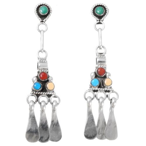 Sterling Silver Western Dangle Earrings 39585