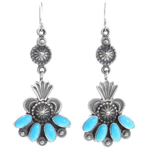 Sleeping Beauty Turquoise Navajo Earrings 39594