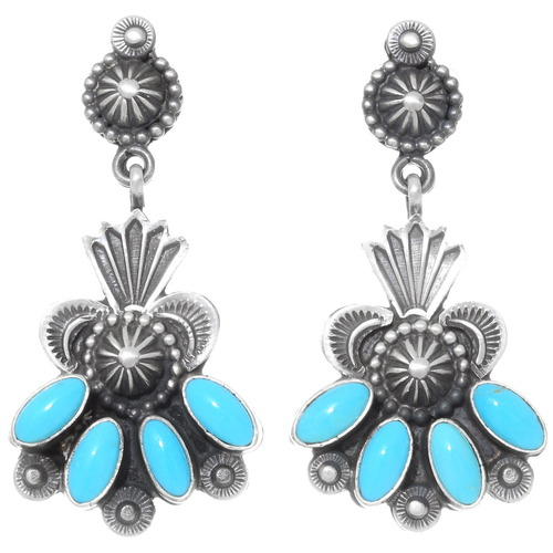 Arizona Turquoise Silver Earrings 39596