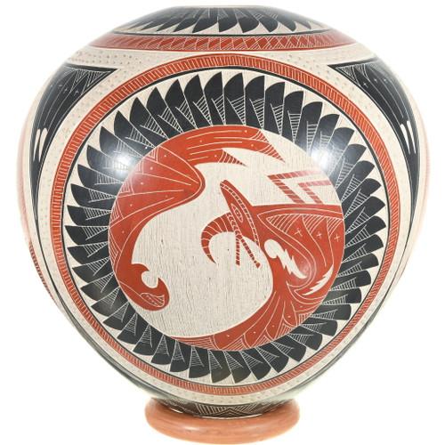 Traditional Mimbres Spirit Figures Mata Ortiz Pottery 39608