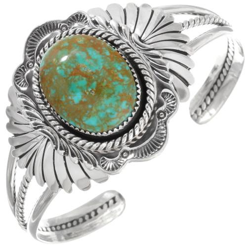 Native American Green Turquoise Cuff Bracelet 39620