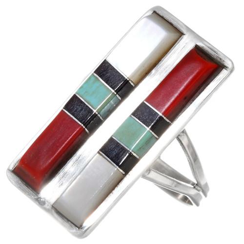 Vintage Zuni Inlay Ring 39633