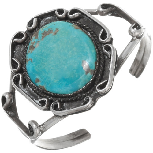 Old Pawn 1960s Turquoise Cuff Bracelet 39644