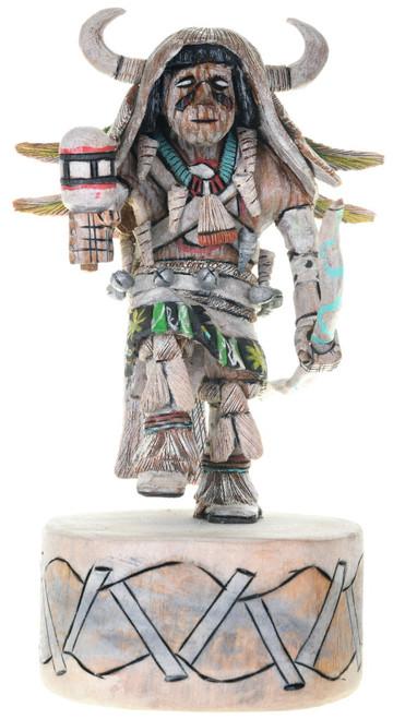 Hopi White Buffalo Dancer Kachina Doll 39690