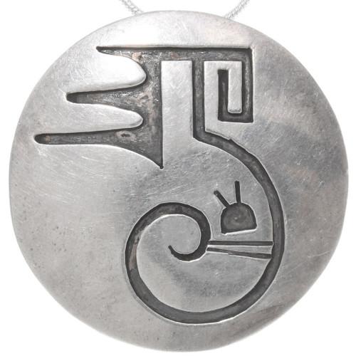 Vintage Overlaid Silver Pendant Pin 39704