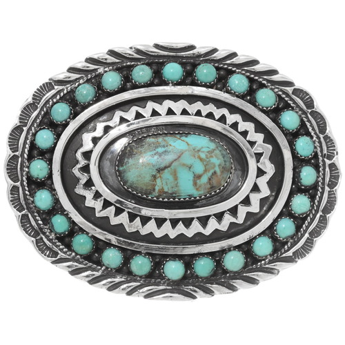 Nevada No. Eight Turquoise Belt Buckle 28231