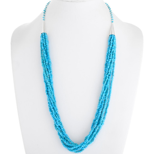Natural Sleeping Beauty Turquoise Navajo Necklace 39751