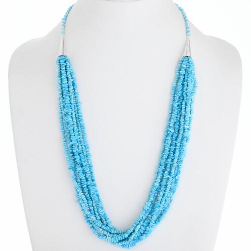 Navajo Sleeping Beauty Turquoise Necklace 39753