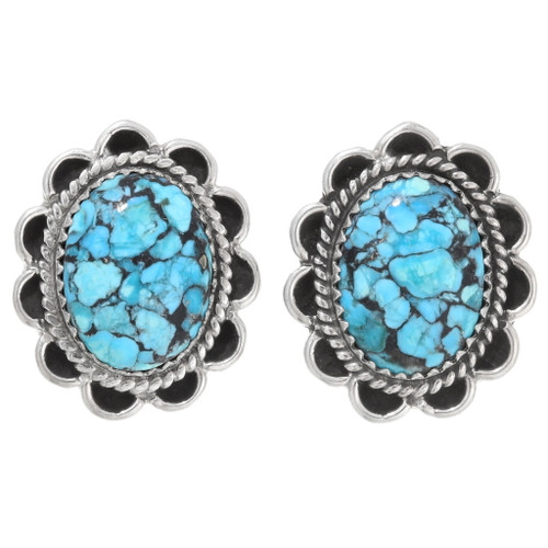 Navajo Turquoise Post Earrings 39783
