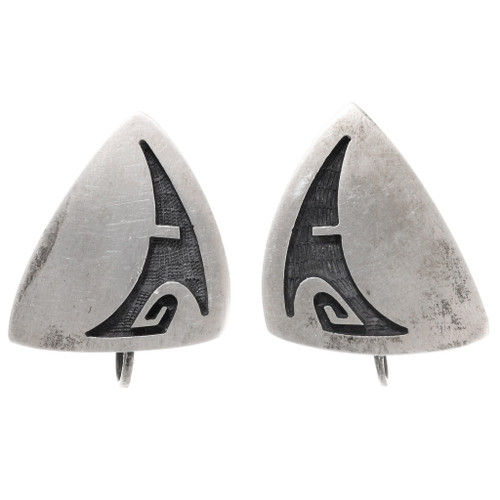 Vintage Hopi Sterling Silver Earrings 39788