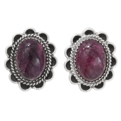Navajo Red Ruby Earrings 39791