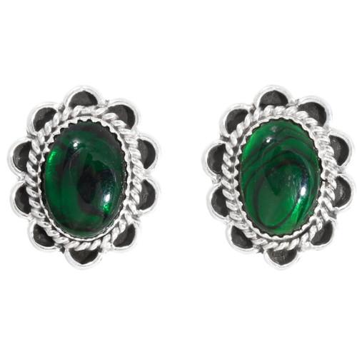 Navajo Green Paua Shell Earrings 39823