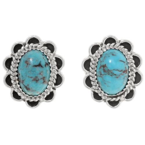 Native American Turquoise Post Earrings 39824