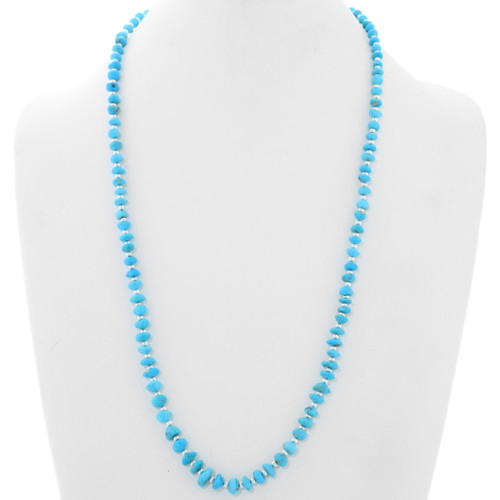 Native American Beaded Turquoise Necklace 39852