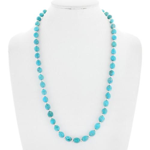 Navajo Sleeping Beauty Turquoise Necklace 39853