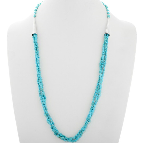 Native American Turquoise Three Strand Necklace 39873