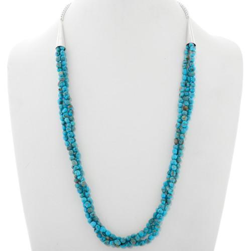 Natural Kingman Turquoise Navajo Necklace 39874