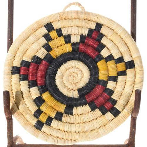Vintage Hopi Basket Polychrome Flower Design 39911