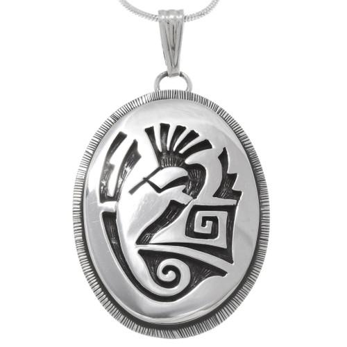 Native American Silver Kokopelli Pendant 39943