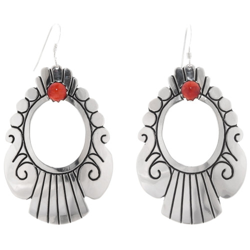 Spiny Oyster Western Native American Earrings 39949